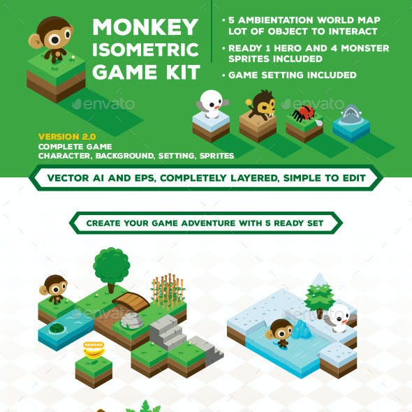 Monkey Isometric Game Kit Map Creator