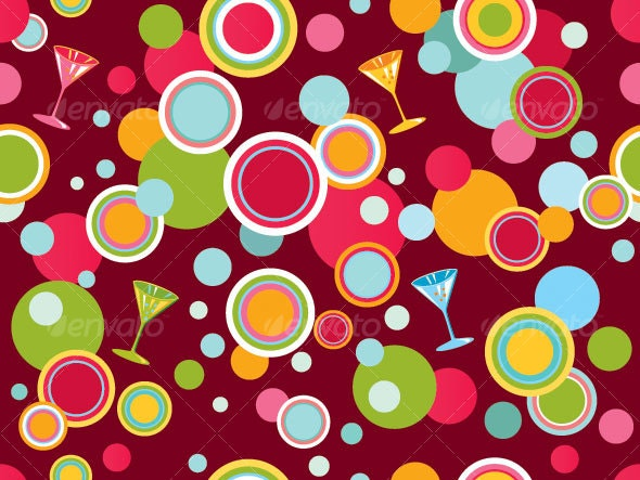 Abstract vector background with lines and circles - Backgrounds Decorative