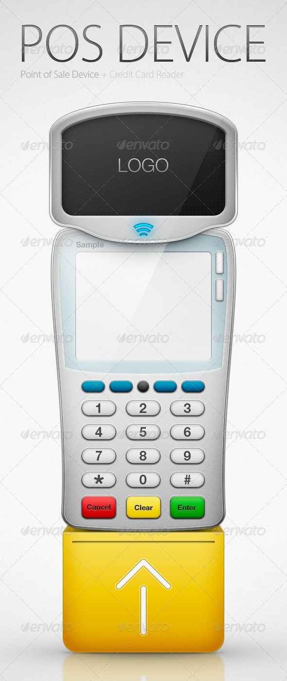 Mobile POS (Point of Sale) Terminal - Miscellaneous Product Mock-Ups