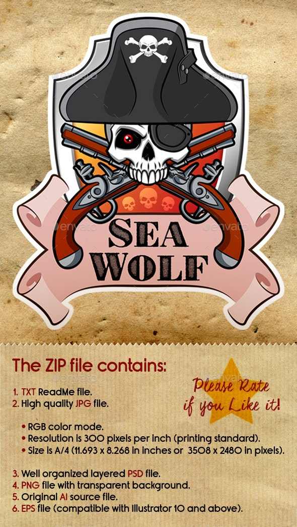 Sea Wolf Sticker - Monsters Characters