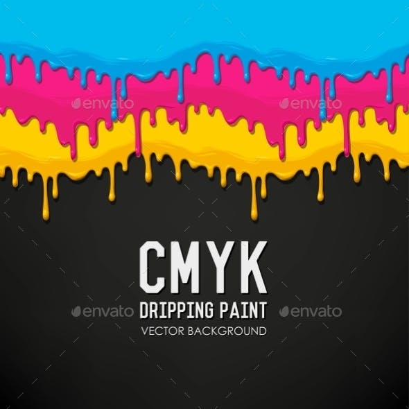 Dripping Paint Vector Background