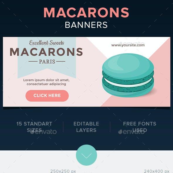 Macarons Banners