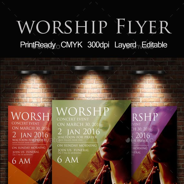 Worship to God Print Template
