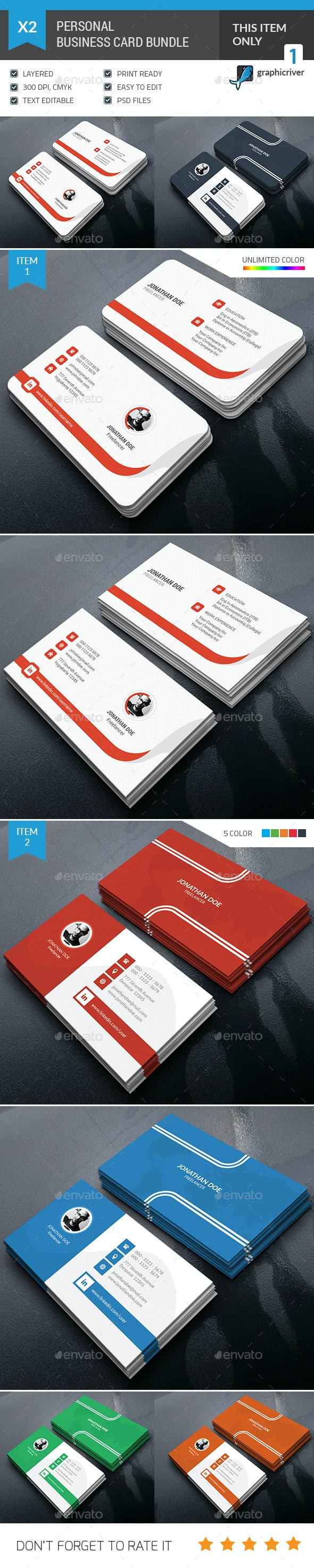 Personal Business Card Bundle - Corporate Business Cards