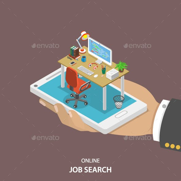Online Job Searching Isometric Flat Vector