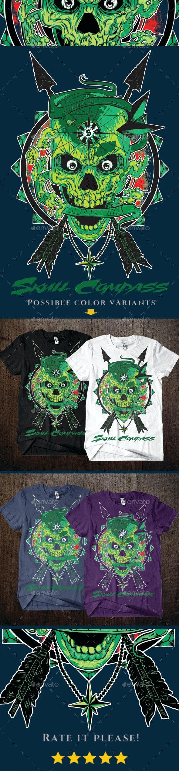 Skull Compass - Designs T-Shirts