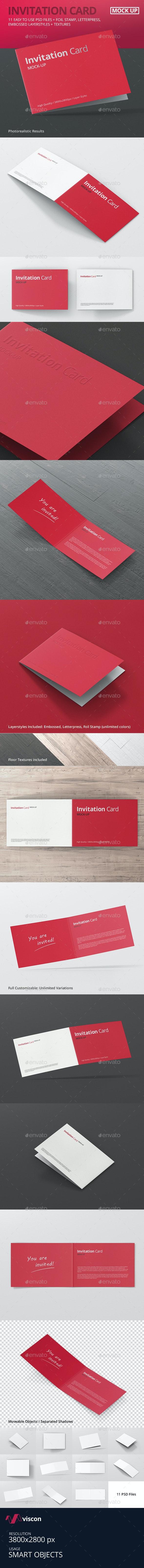 Invitation Card Mock-Up - Miscellaneous Print