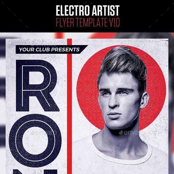 Electro House Artist Flyer v10