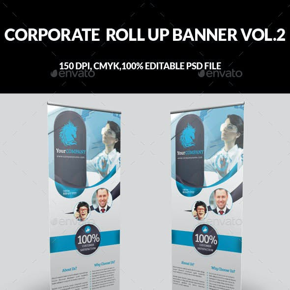 Corporate Business Roll Up Banner Vol.2