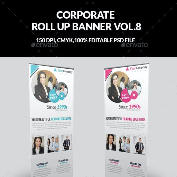 Corporate Business Roll Up Banner Vol.8