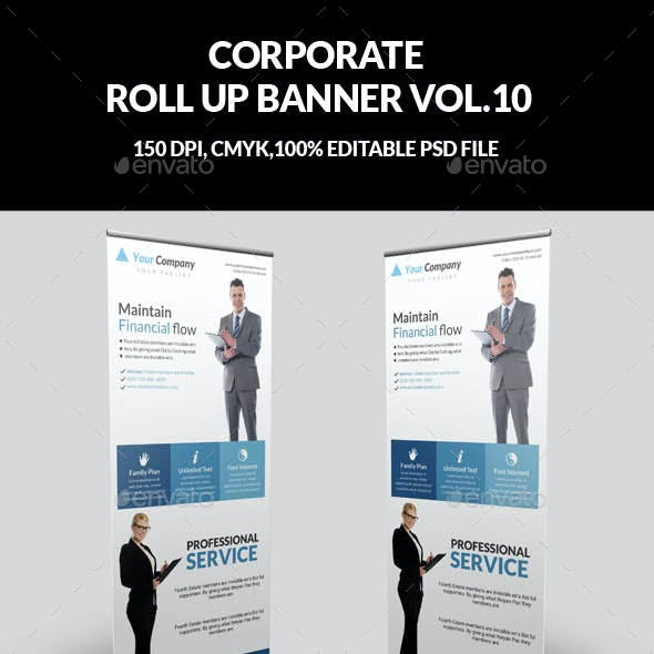 Corporate Business Roll Up Banner Vol.10