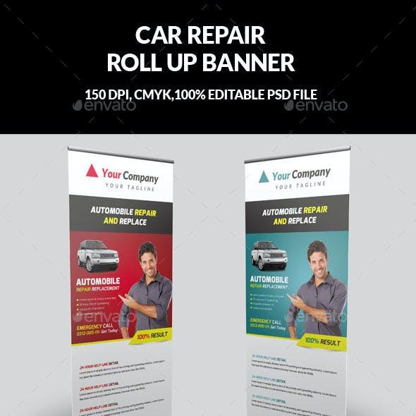 Car Repair Roll Up Banner