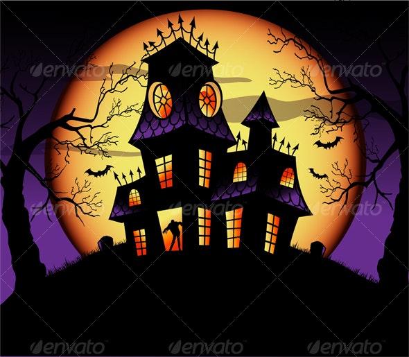 Spooky Haunted House - Halloween Seasons/Holidays