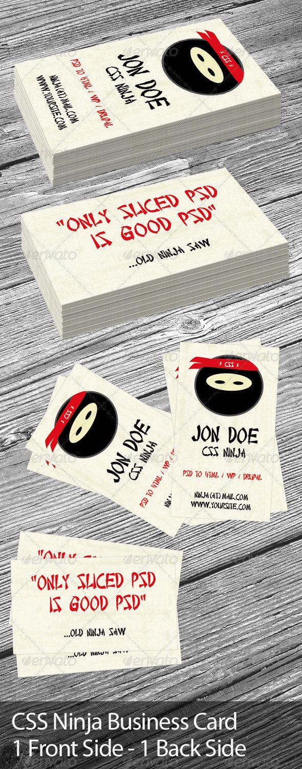 CSS Ninja Business Card - Creative Business Cards