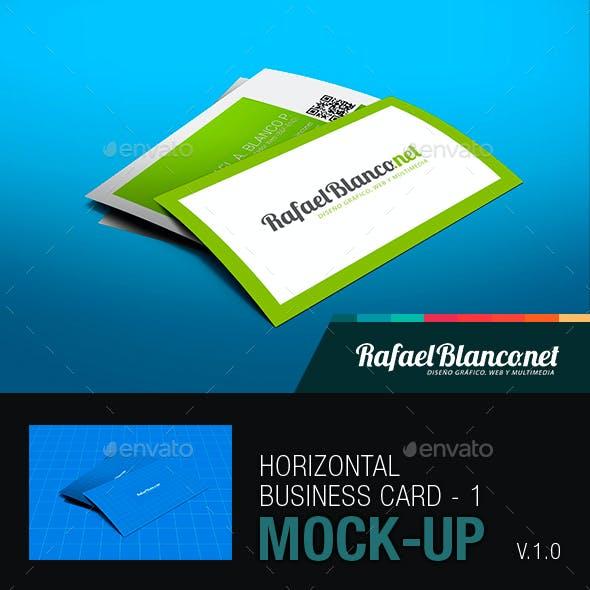 Horizontal Business Card Mock-Up