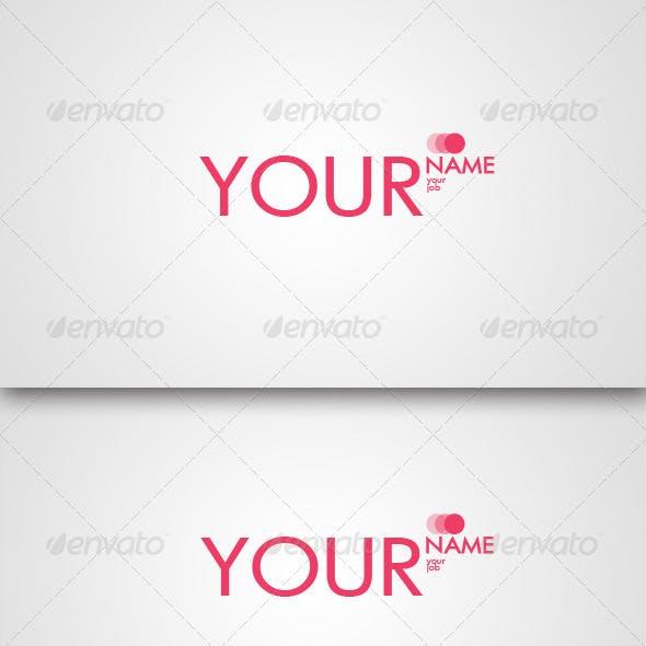 Fashion-Girl Business Card