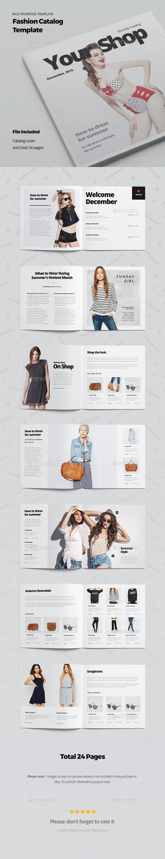 Fashion Catalog Template - Catalogs Brochures