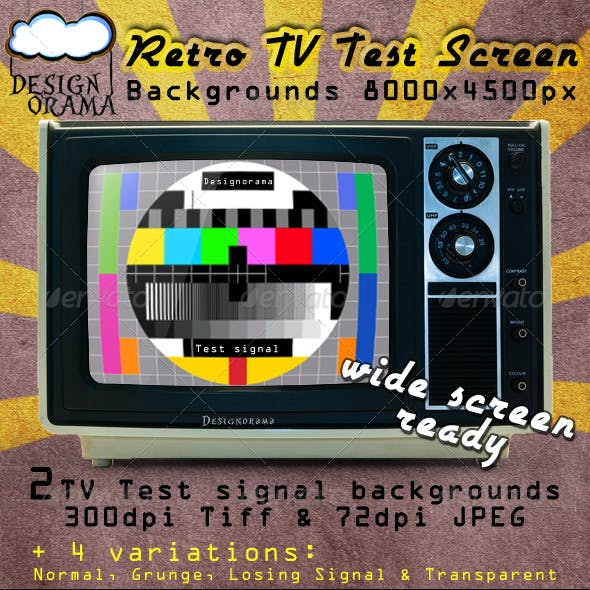 Retro TV Test Screen