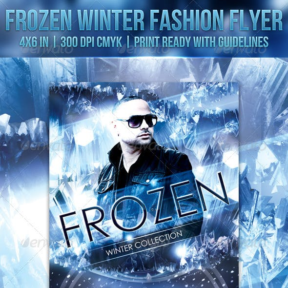 Frozen Winter Fashion Flyer