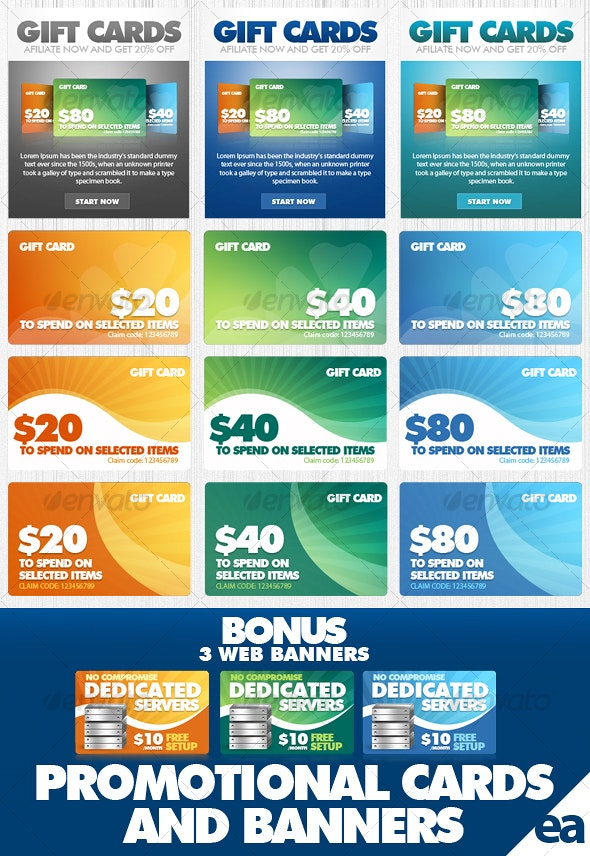 Promotional Cards/Banners - Web Elements