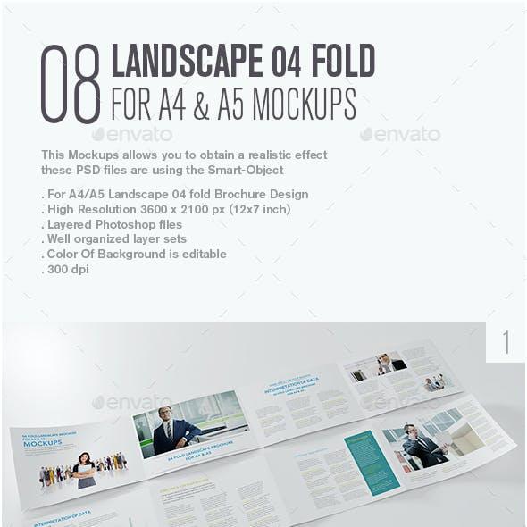 Landscape 04 Fold For A4 & A5 Mockup