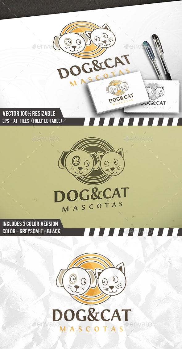 Dog & Cat Logo - Animals Logo Templates