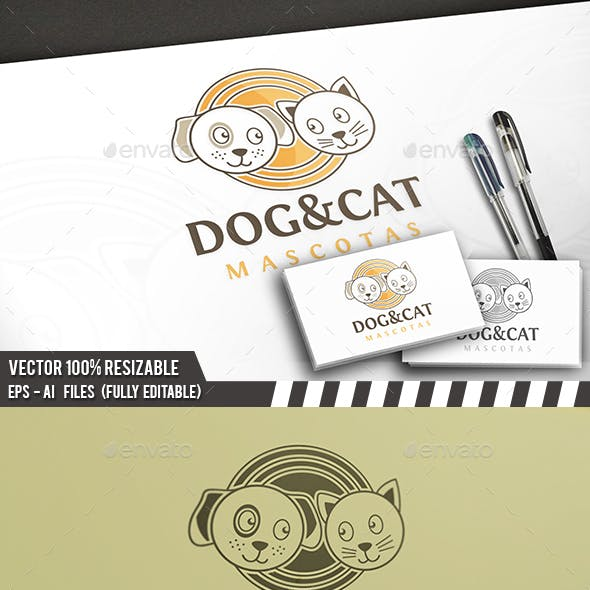 Dog & Cat Logo