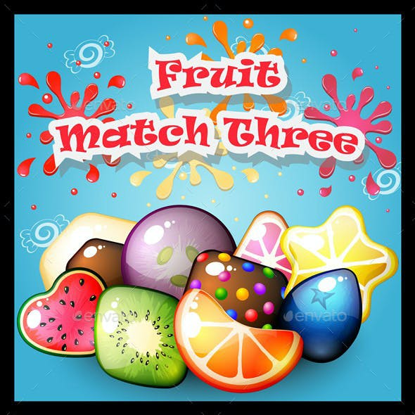 Fruit Match Three Game Kit
