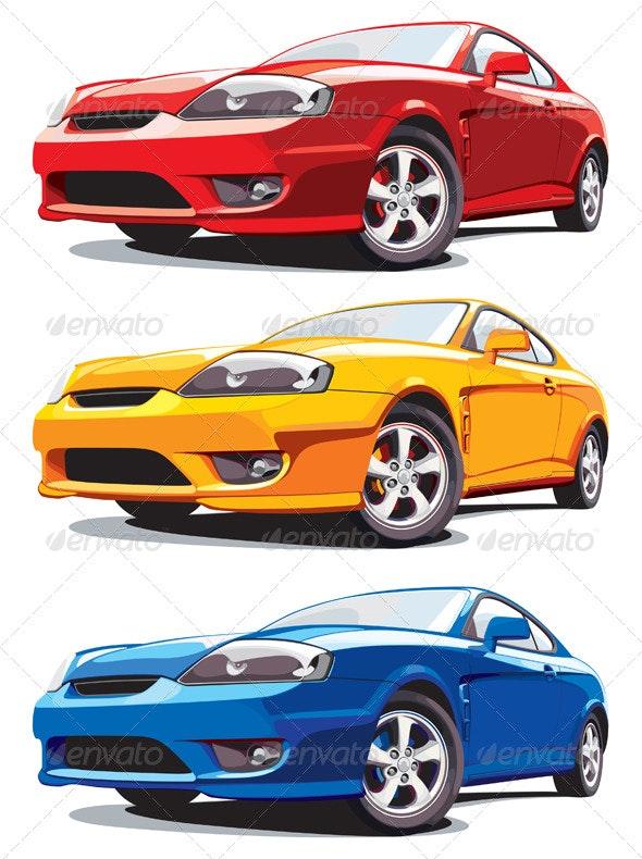 Modern car - Objects Vectors