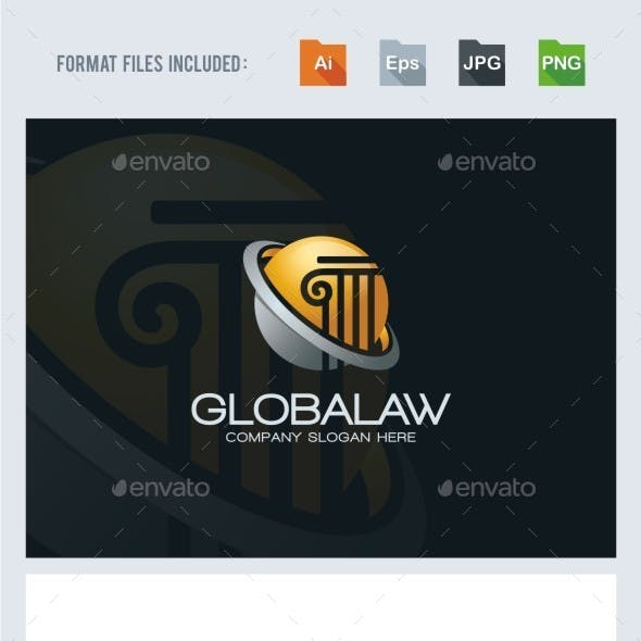 Global Law Firm Logo Template