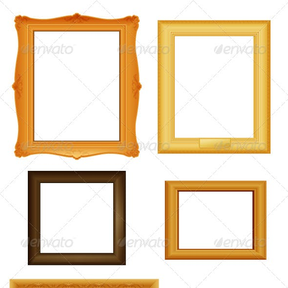 Picture frames vector set