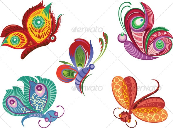 Color butterflies - Animals Characters