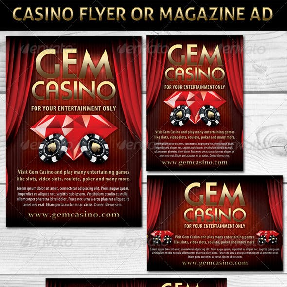 Casino Magazine Ads or Flyers Template