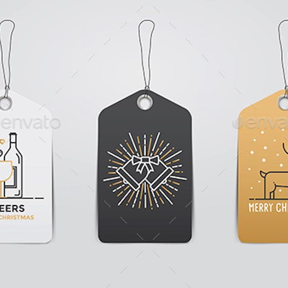 Collection of Christmas and New Year Gift Tags