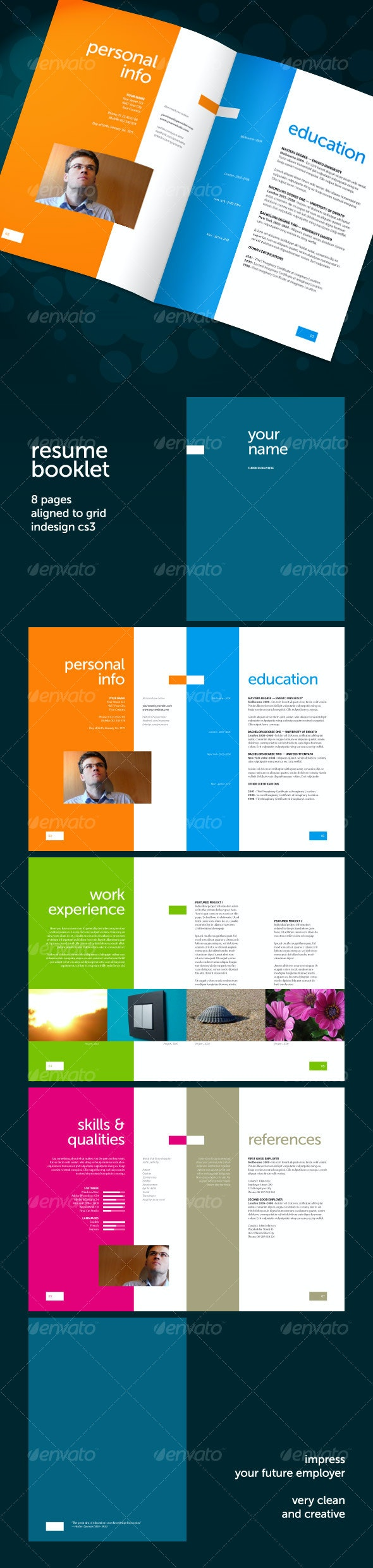 Resume Booklet (8 pages) - Resumes Stationery