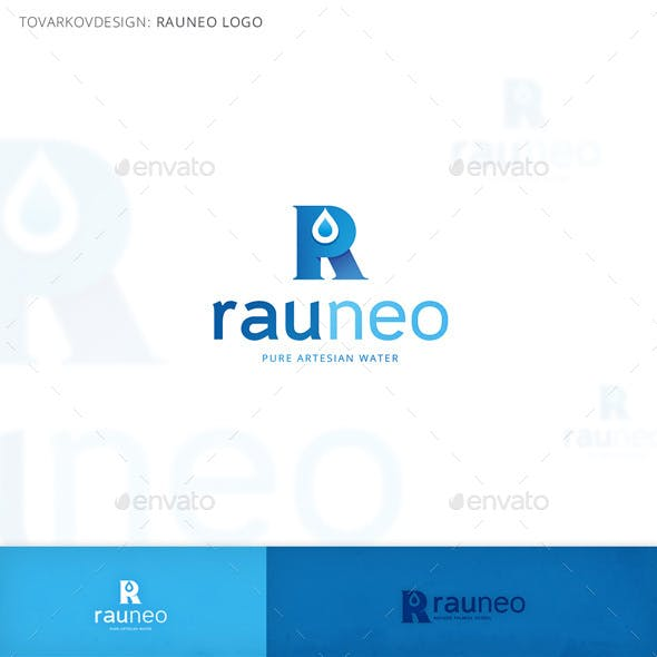 Rauneo Letter R Logo Template