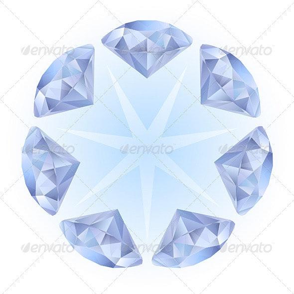 Realistic diamonds pattern - Characters Vectors