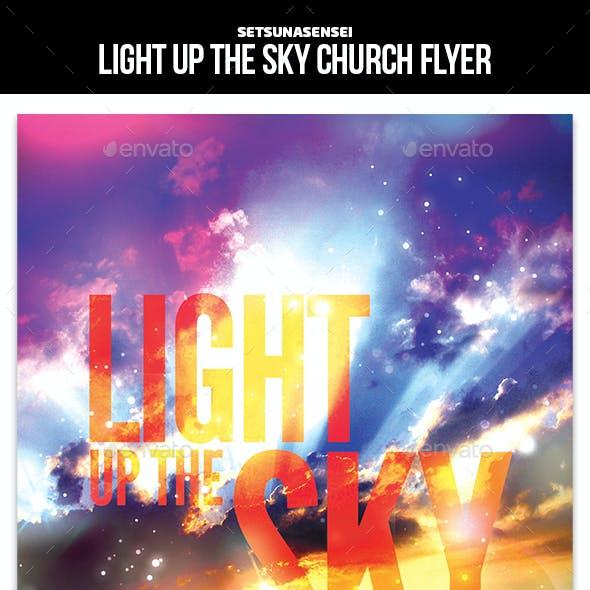 Light Up The Sky Church Flyer