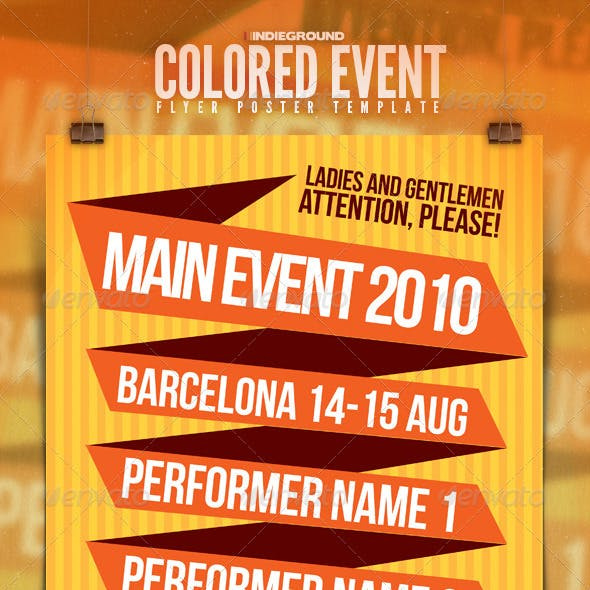 Colored Event-Festival Poster