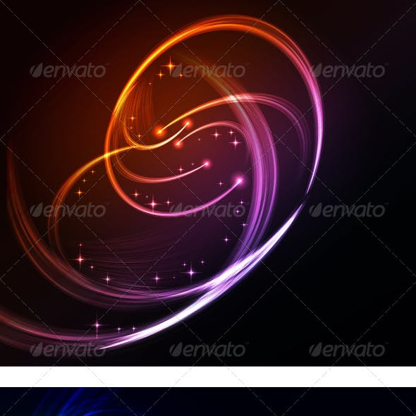 Abstract background with turbulence glowing lines