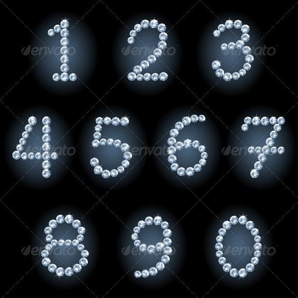 Diamond numerals - Decorative Symbols Decorative