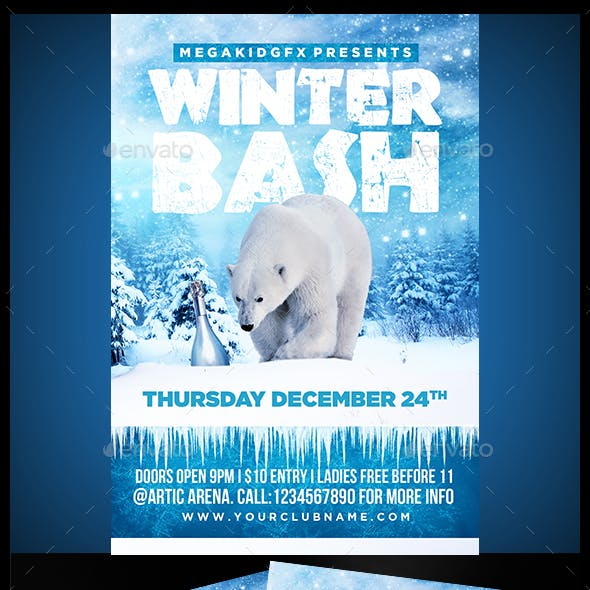 Winter Bash Flyer Template