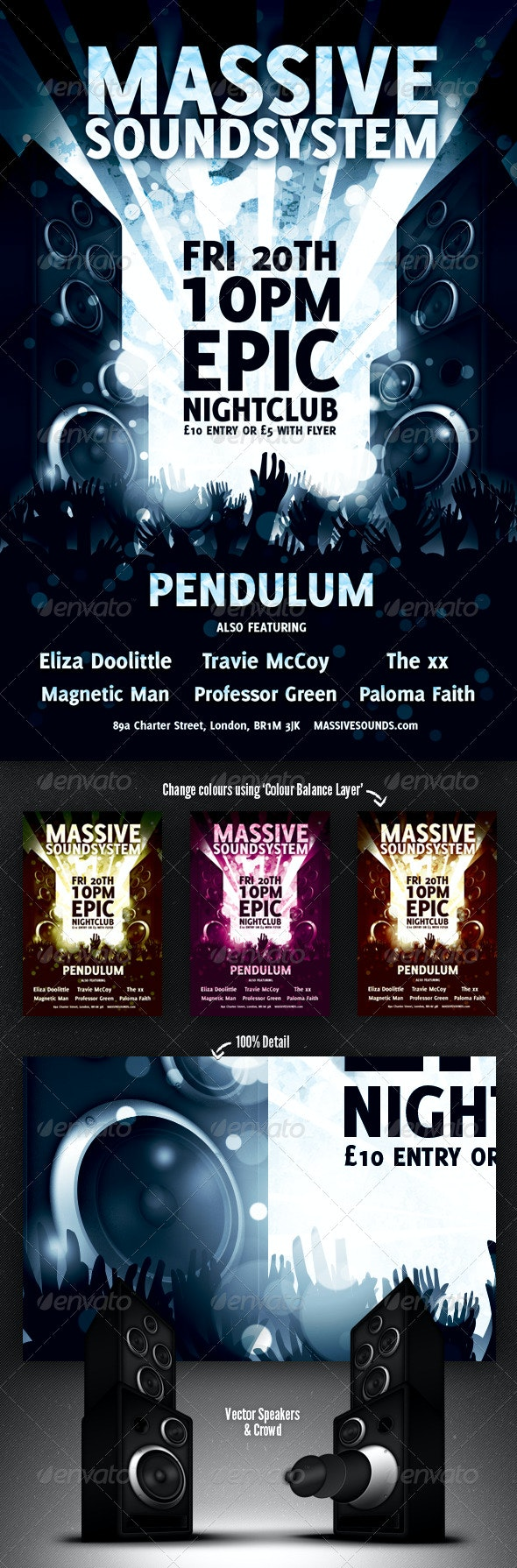Nightclub Event Flyer - Clubs & Parties Events