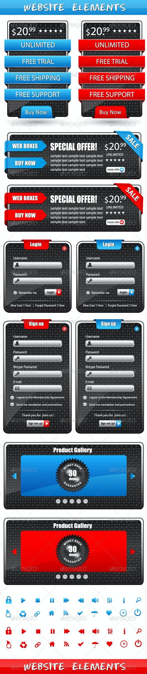 Website Elements - Web Elements