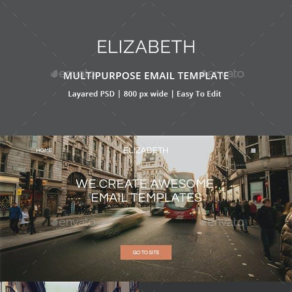 Elizabeth - Multipurpose Email Template