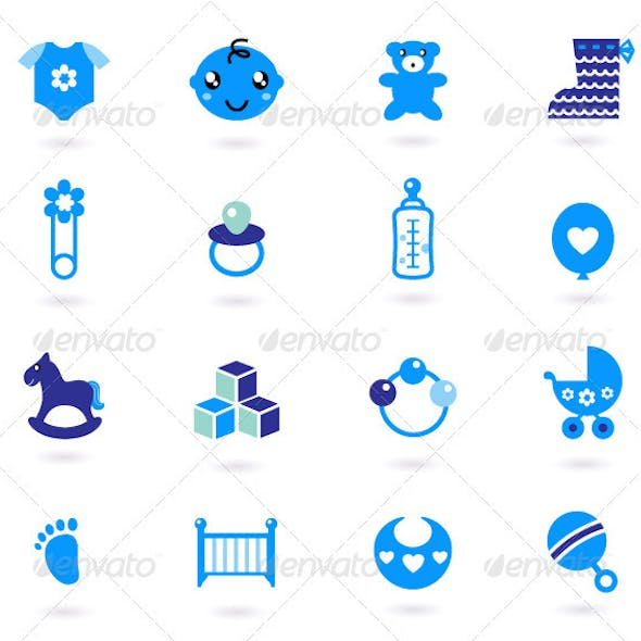 Blue Icons Collection for Baby Boy