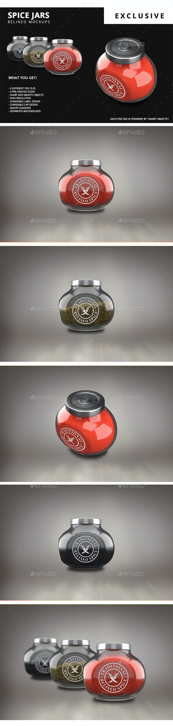 Spice Jar Mock-up Pack - Food and Drink Packaging