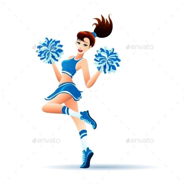Dancing Cheerleader Girl