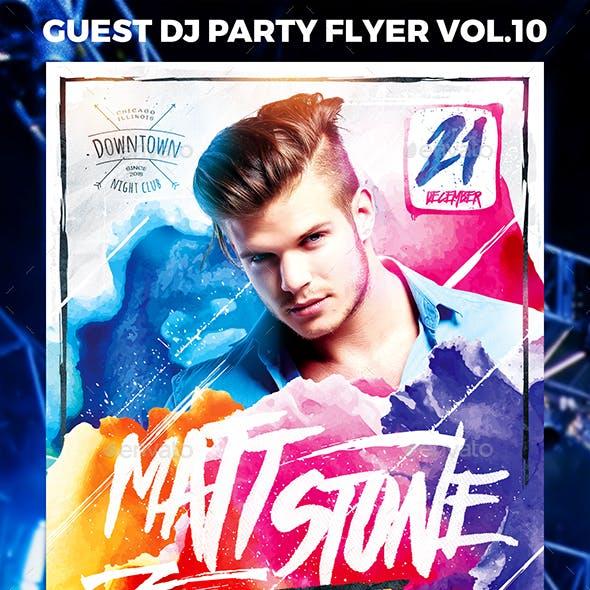 Guest DJ Party Flyer vol.10