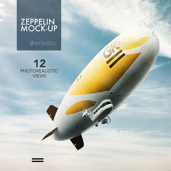 Realistic 3D Zeppelin Mock-ups / Dirigible Mock up